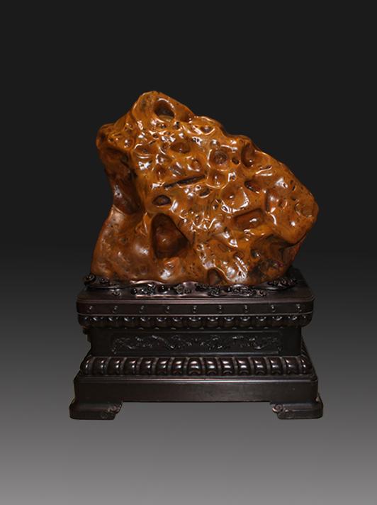 金蟾献宝奇石