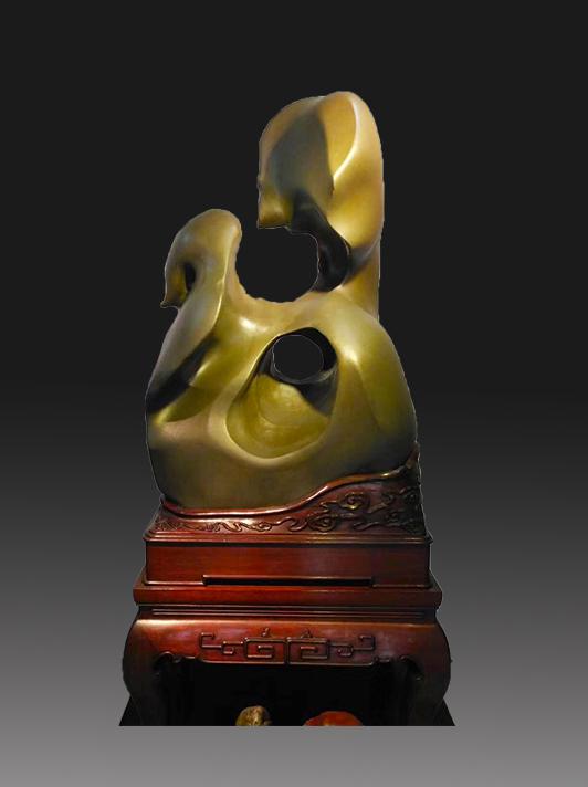 摩尔雕塑奇石